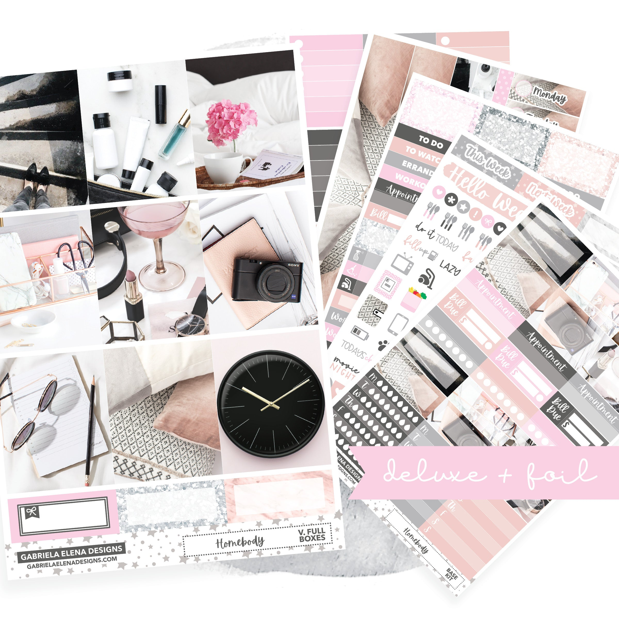 Homebody / Photo Series // Deluxe VERTICAL // Sticker Kit // Full Weekly Kit / FOIL
