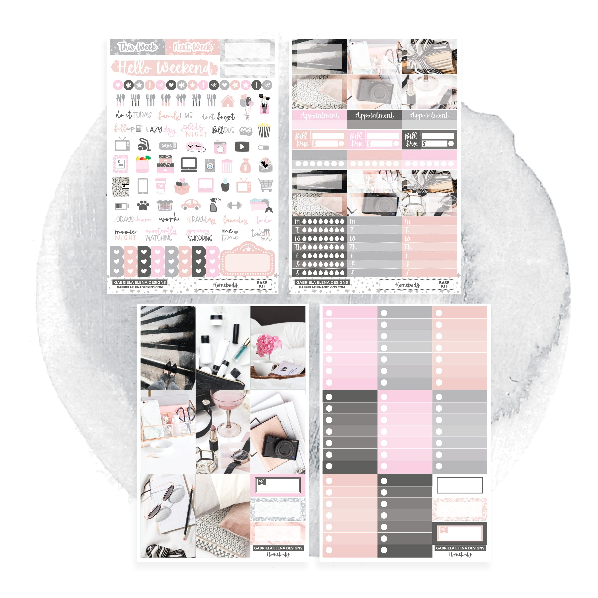 Homebody / Photo Series // CLASSIC HAPPY PLANNER / Sticker Kit / FOIL