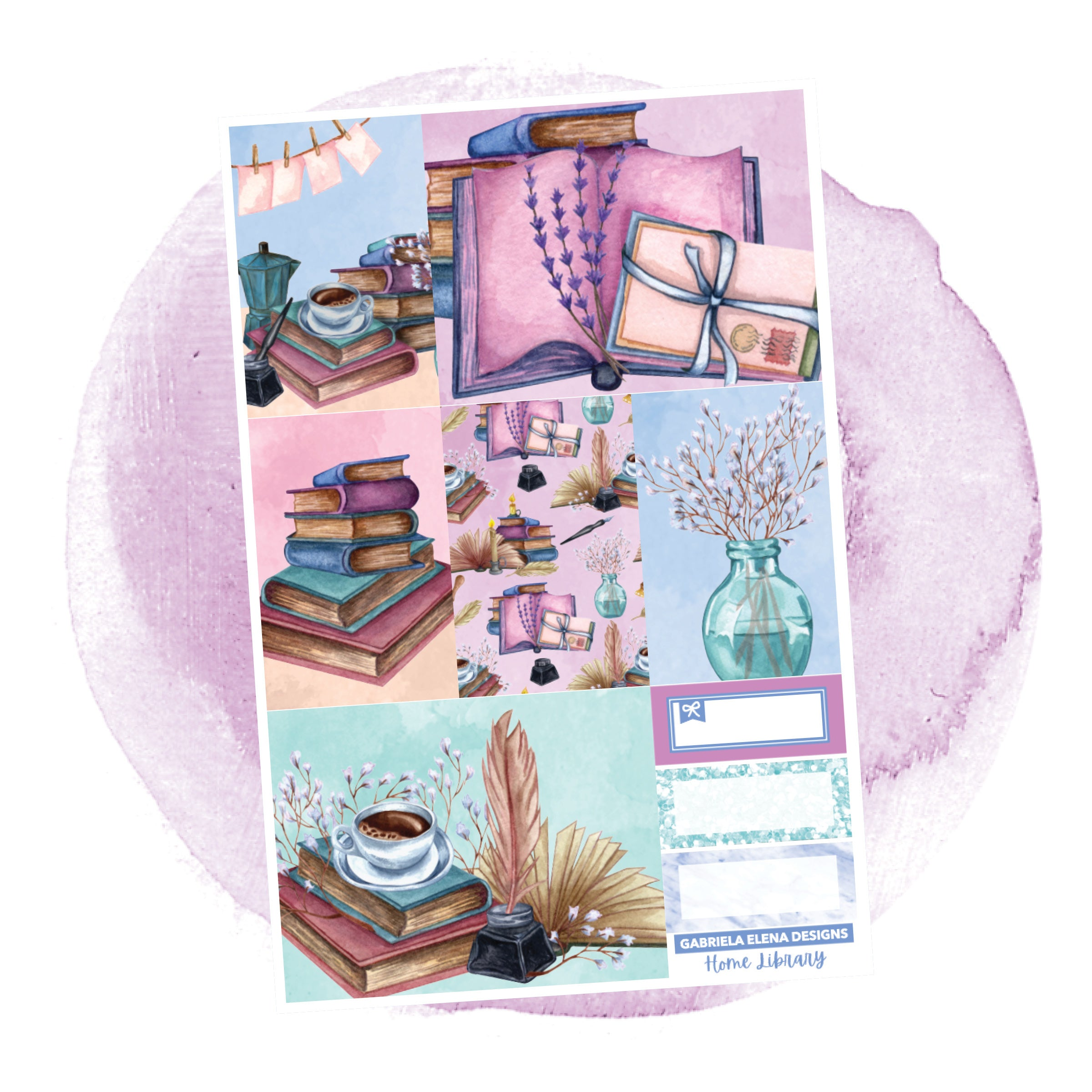 Home Library // a la carte / Sticker Kit / Full Boxes / FOIL