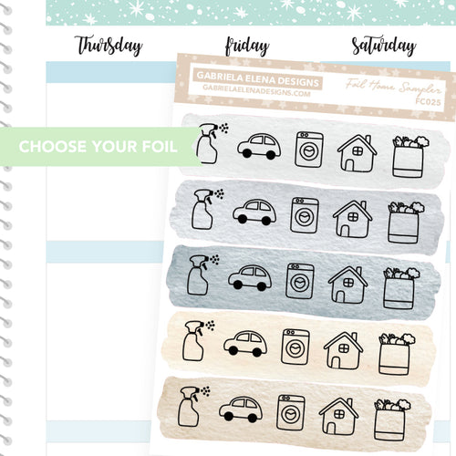 Home Sampler / FOIL Stickers / Choose Your Foil / Neutrals
