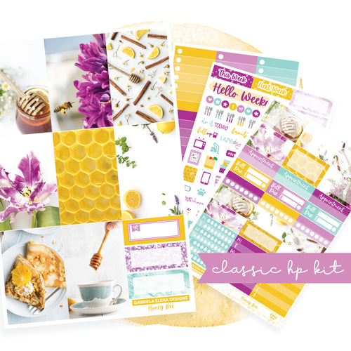 Honey Bee / Photo Series // CLASSIC HAPPY PLANNER / Sticker Kit / FOIL