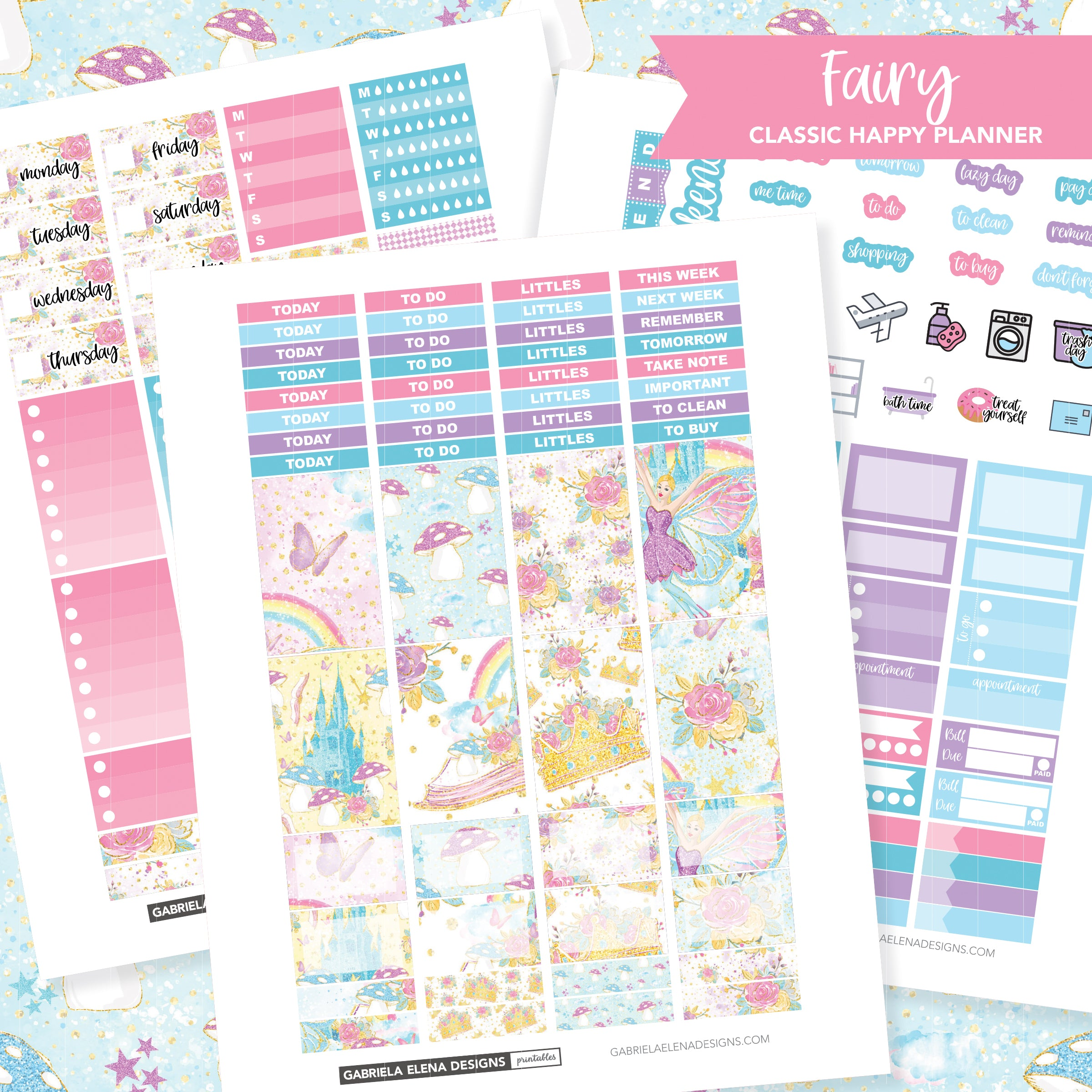 CLASSIC HAPPY PLANNER Printable / Instant Download / Fairy