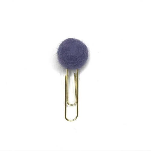 Felt Pom Paperclip // Heather Purple