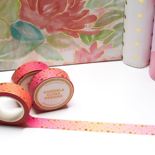 Washi Roll // Shop Exclusive // Sunset Wish + Gold Foil // 15 mm