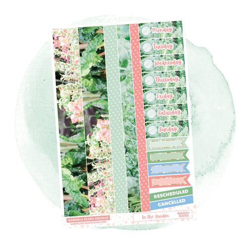 In the Garden // a la carte / Sticker Kit Add On / Washi and Date Covers / FOIL