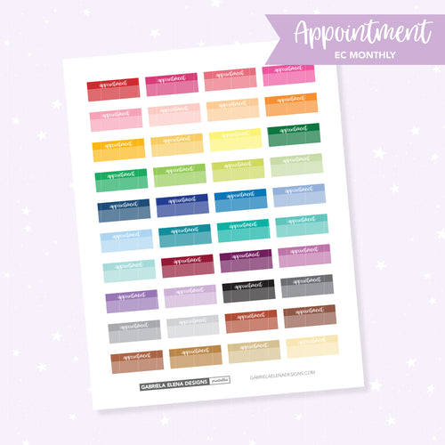 EC MONTHLY / Functional // Printable / Instant Download / Appointment