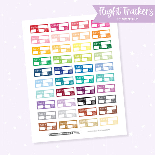 EC MONTHLY / Functional // Printable / Instant Download / Flight Tracker