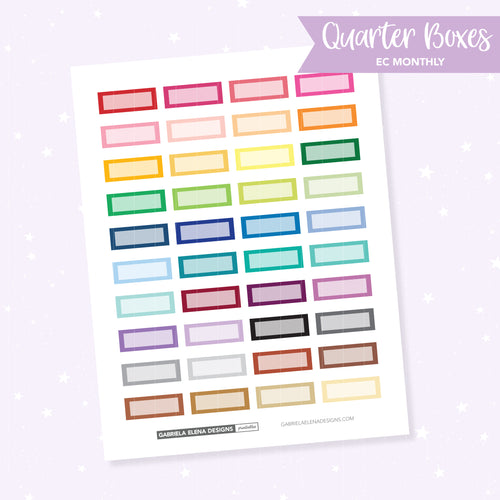 EC MONTHLY / Functional // Printable / Instant Download / Quarter Boxes