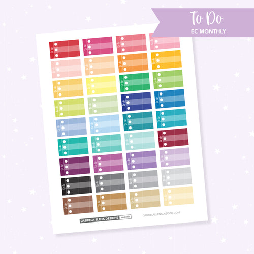 EC MONTHLY / Functional // Printable / Instant Download / To Do