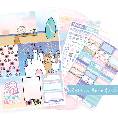 SoCal Llama // CLASSIC HAPPY PLANNER / Sticker Kit / FOIL