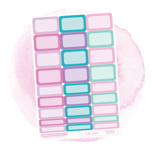Boxes // Functional Planner Stickers / Mermaid