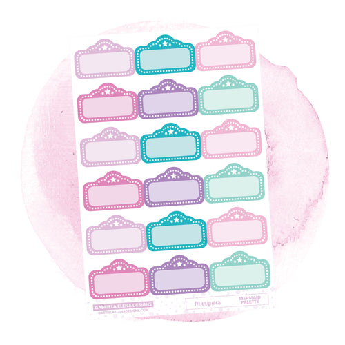 Marquees // Functional Planner Stickers / Mermaid