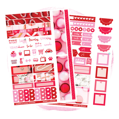 Merry and Bright / HOBONICHI WEEKS // Sticker Kit