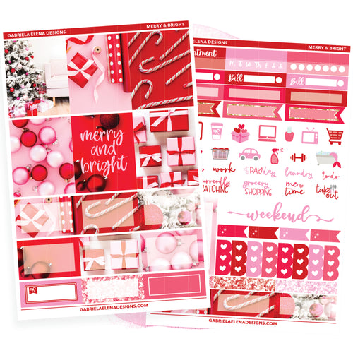 Merry and Bright // MINI KIT / Sticker Kit / FOIL