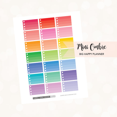 BIG HAPPY PLANNER // Printable / Instant Download / Mini Ombre