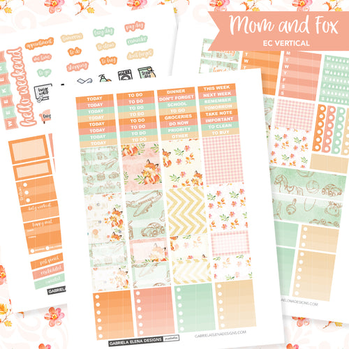 VERTICAL Printable / Instant Download / Mom and Fox