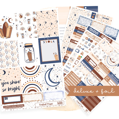 Neutral Magic // Deluxe EC VERTICAL // Sticker Kit // Full Weekly Kit / FOIL