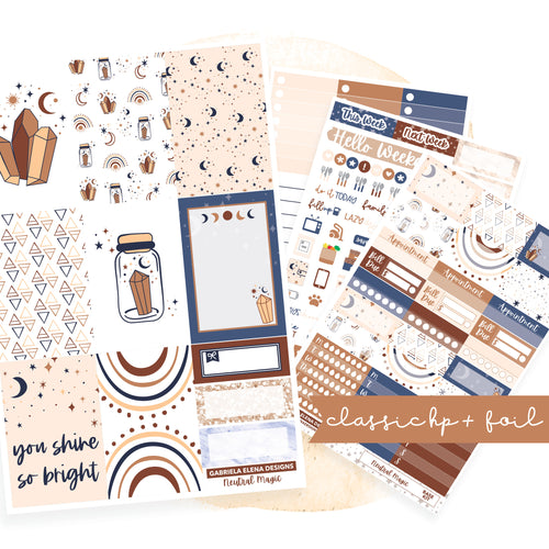 Neutral Magic // CLASSIC HAPPY PLANNER / Sticker Kit / FOIL