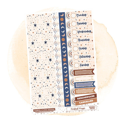 Neutral Magic // a la carte / Sticker Kit Add On / Washi and Date Covers / FOIL