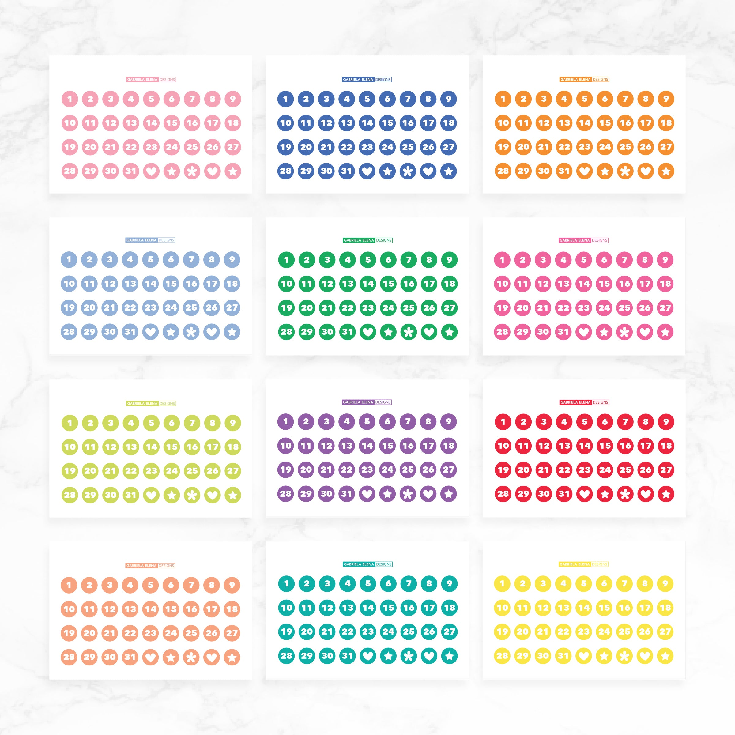 Number Dots // Sticker Book Inserts
