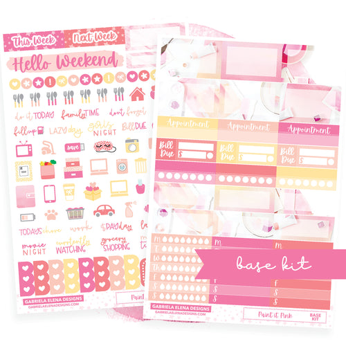 Paint it Pink / Photo Series // BASE KIT / Icons / Functional / Sticker Kit