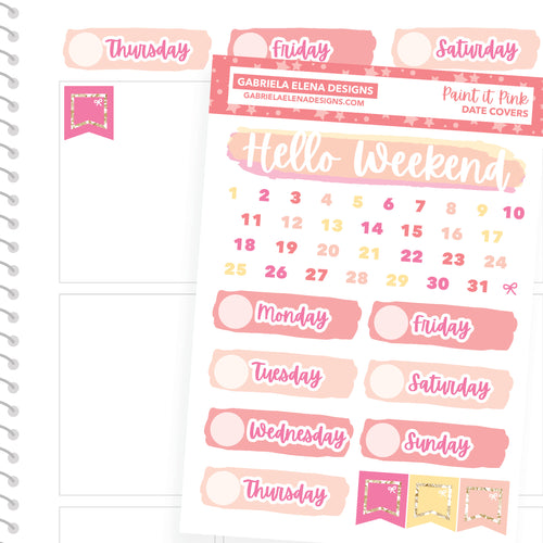Paint it Pink / Photo Series // a la carte / Sticker Kit Add On / Date Headers