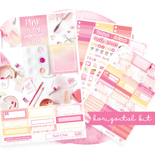 Paint it Pink / Photo Series // EC HORIZONTAL / Sticker Kit