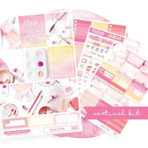 Paint it Pink / Photo Series // EC VERTICAL / Sticker Kit