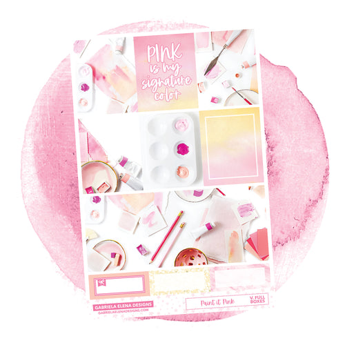 Paint it Pink / Photo Series // a la carte / Sticker Kit / Full Boxes