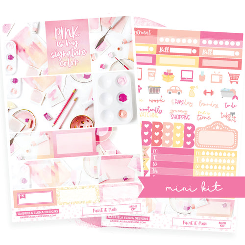 Paint it Pink / Photo Series // MINI KIT / Sticker Kit