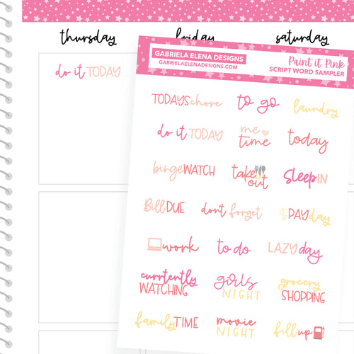 Paint it Pink / Photo Series // a la carte / Sticker Kit Add On / Script Sampler