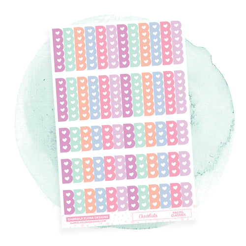 Checklists // Functional Planner Stickers / Pastel Classics