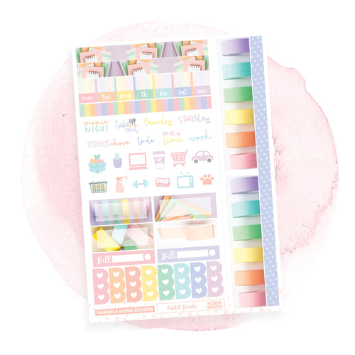 Pastel Washi / Photo Series / HOBONICHI WEEKS // Sticker Kit