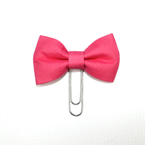 Small Bow Paperclip // Hot Pink