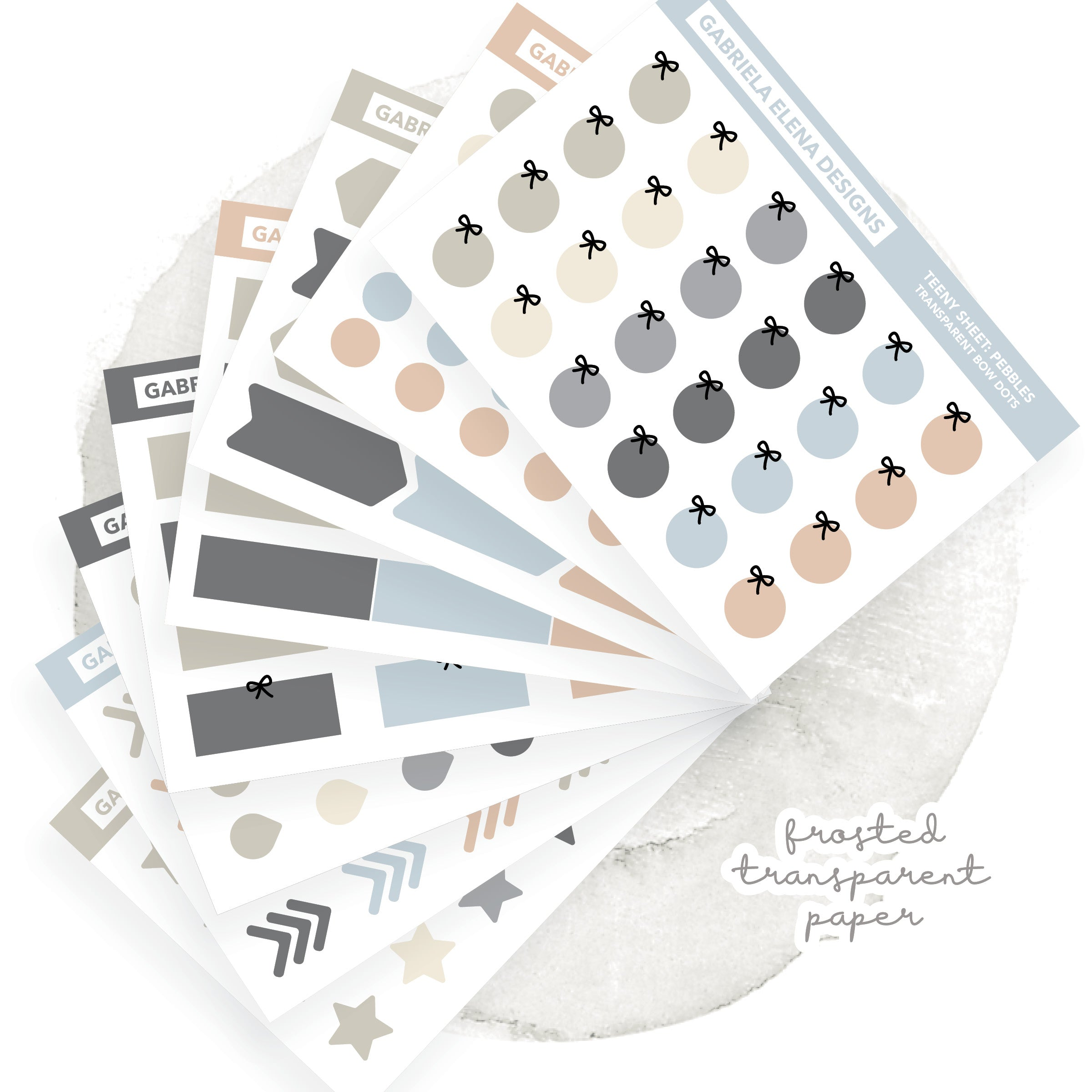 BUNDLE / Transparent Teeny Sheets // Functional Planner Stickers / Pebbles