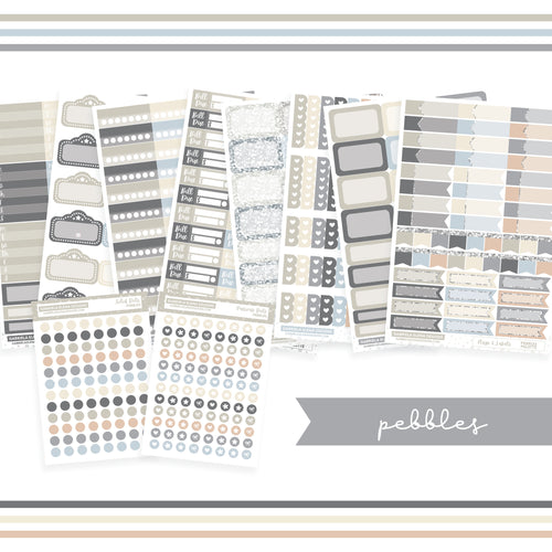 BUNDLE // Functional Planner Stickers / Pebbles