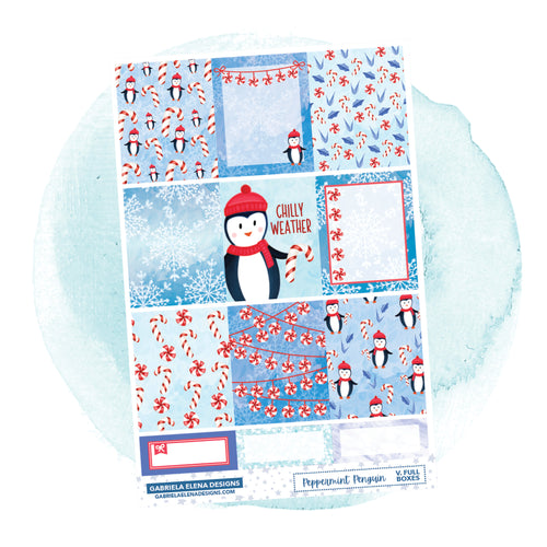 Peppermint Penguin // a la carte / Sticker Kit / Full Boxes / FOIL