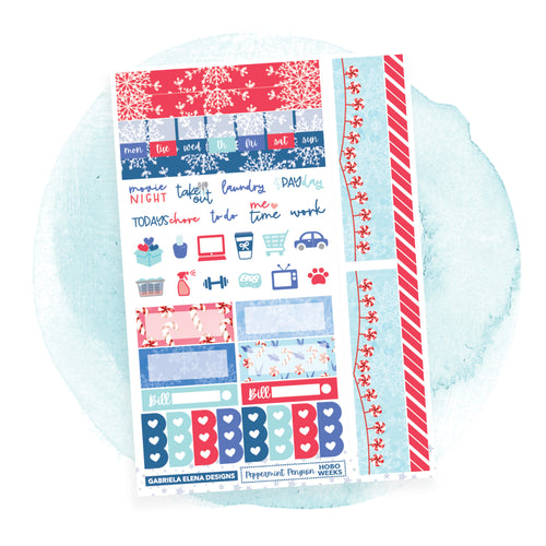 Peppermint Penguin / HOBONICHI WEEKS // Sticker Kit