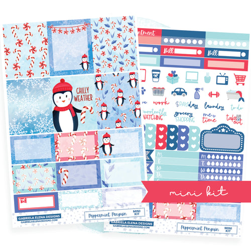 Peppermint Penguin // MINI KIT / Sticker Kit / FOIL