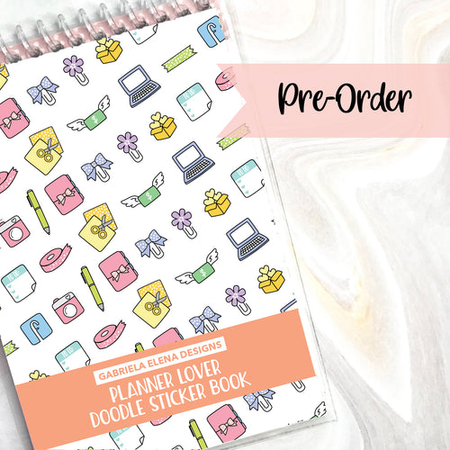 PRE-ORDER // Planner Lover // Doodle Sticker Book // 12 pages