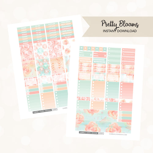 VERTICAL Printable / Instant Download / Pretty Blooms