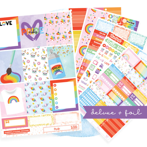 Pride // Deluxe VERTICAL // Sticker Kit // Full Weekly Kit / FOIL