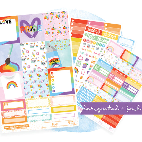Pride // HORIZONTAL / Sticker Kit / FOIL