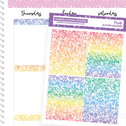 Pride // a la carte / Sticker Kit Add On / Glitter Headers