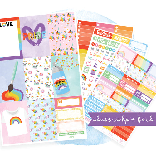 Pride // CLASSIC HAPPY PLANNER / Sticker Kit / FOIL