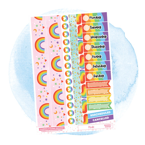 Pride // a la carte / Sticker Kit Add On / Washi and Date Covers / FOIL