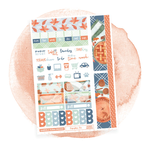 Pumpkin Pie / HOBONICHI WEEKS // Sticker Kit