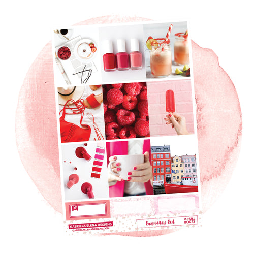 Raspberry Red / Photo Series // a la carte / Sticker Kit / Full Boxes / FOIL