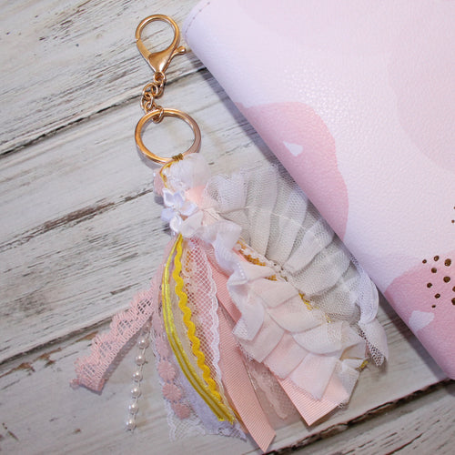 Ribbon Tassel // Pink, White, and Yellow