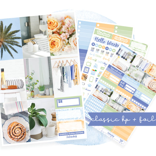 Saturday / Photo Series // CLASSIC HAPPY PLANNER / Sticker Kit / FOIL